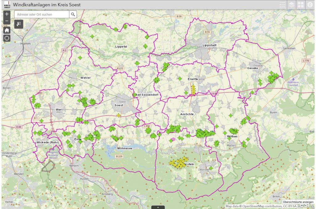 Anlagenberechnung und Karten-720m-1000m Abstand Kreis Soest_2